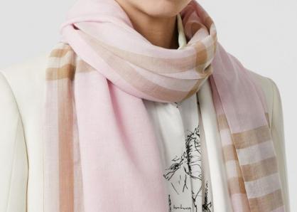 ウールシルク スカーフ